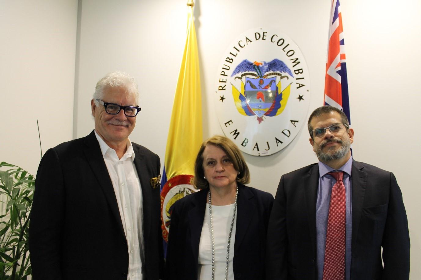 La Embajadora Clemencia Forero se reunió con el Cónsul Honorario de Colombia en Perth, John Goodlad