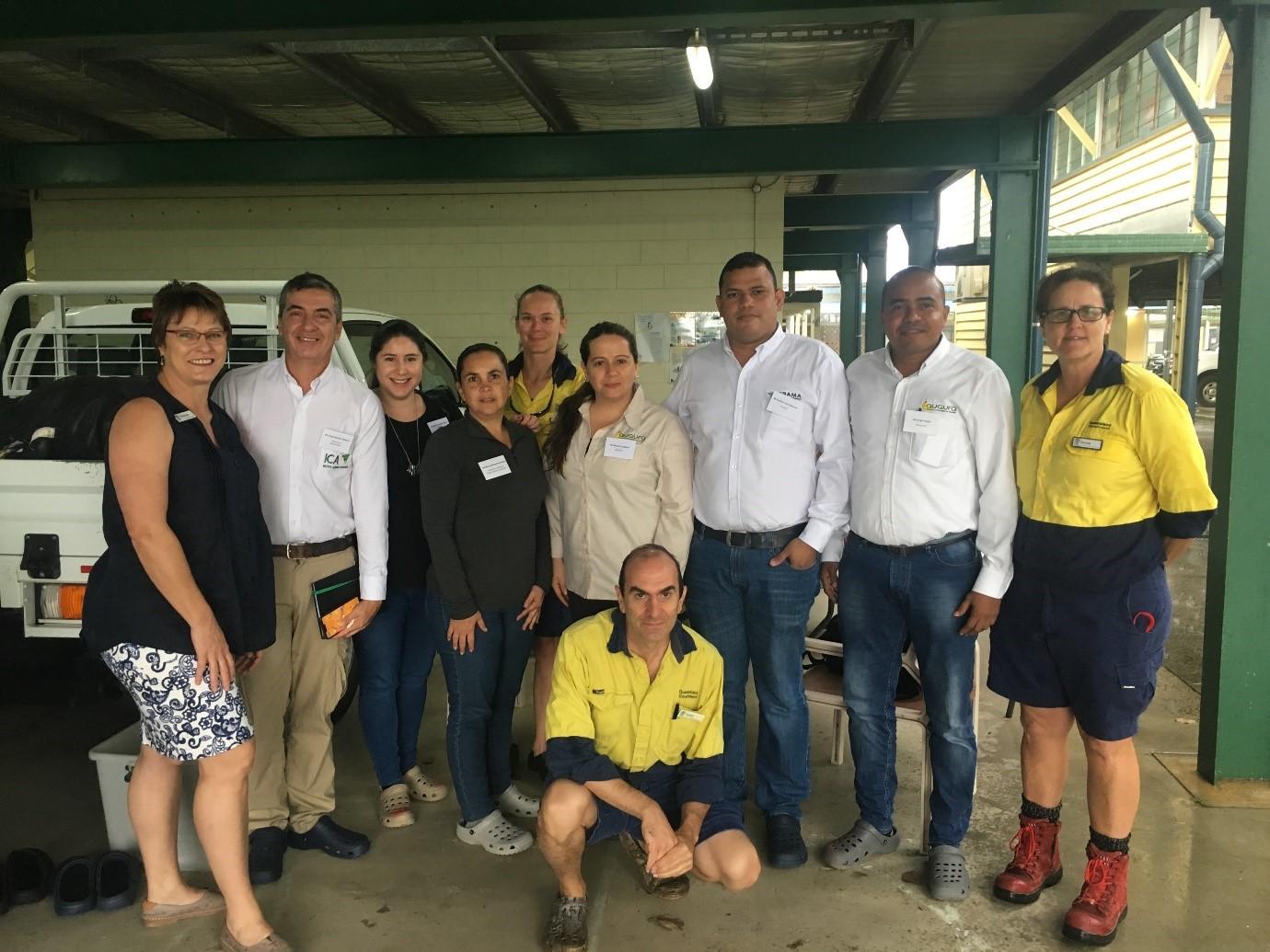 Delegación colombiana visita Queensland para llevar a cabo una misión de buenas prácticas sobre Hongo Fusarium